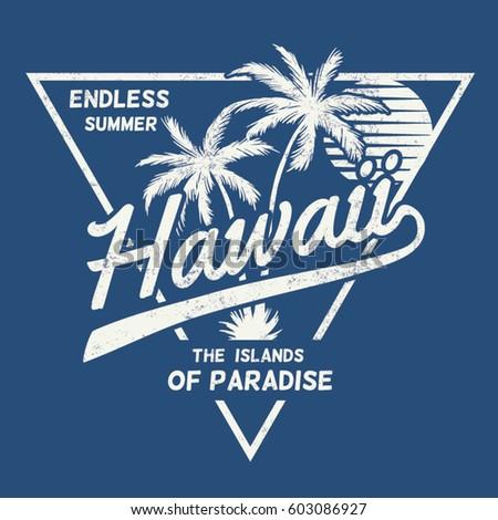 80's style vintage hawaii print
