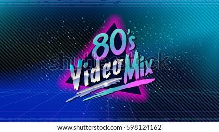80's video mix retro style