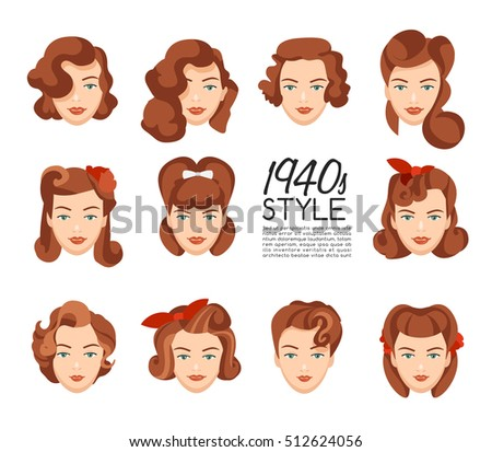 1940s vintage hairstyle  ...