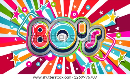 80s Vintage Party Background Illustration