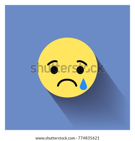 Sad face. Vector illustration sad icon. Sad face symbol. Sad icon. Triste emotion.