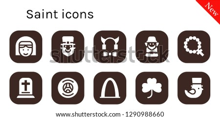 48bac1787 saint icon set. 10 filled saint icons. Simple modern icons about - Nun