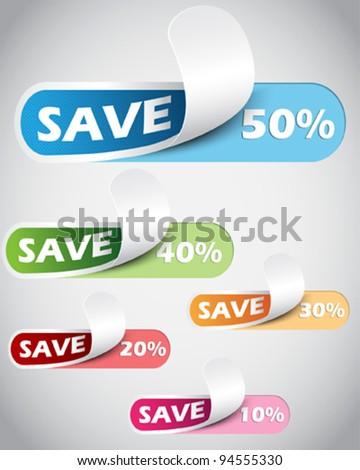 50% Sale percents label - stock vector