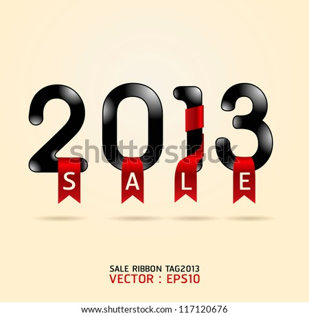 2013 sale ribbon vector