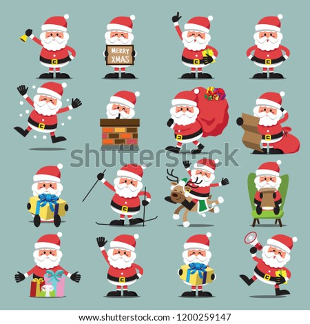 santa clauses set for
