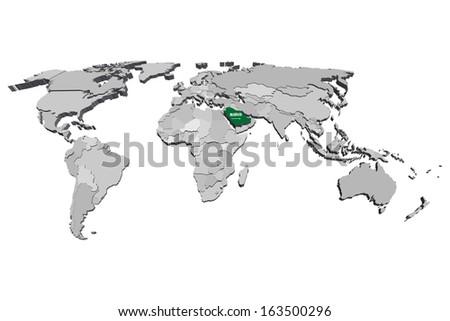 Saudi Arabia Map 3d Saudi Arabia Map Vector 3d