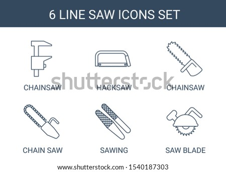 6 saw icons trendy saw icons