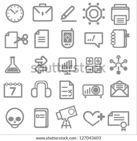 25 school and college icons. Vector education icons set ?1