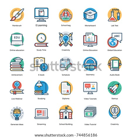 School and Education Vector Icons Pack