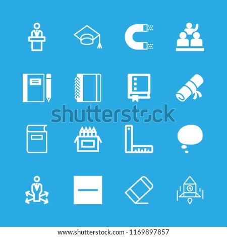 16 school icons with substract and decision making in this set