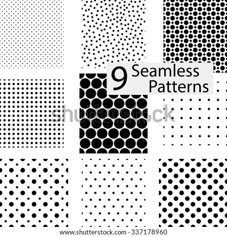 9 seamless dotted patterns
