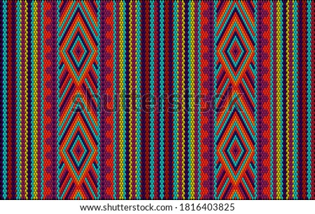Seamless ethnic ornament for fabrics, interiors, ceramics and furniture in the style of Latin America.   Foto stock ©