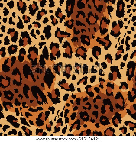 Seamless leopard pattern. Vector illustration.