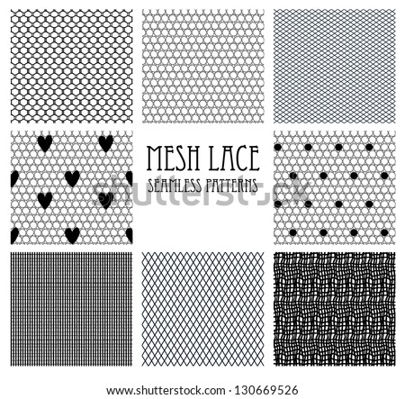 8 seamless mesh lace patterns.