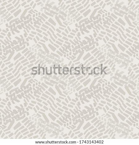 Seamless pattern. Neutral cream tonal camo background. Elegant minimal off white beige linen texture. Stylish camouflage all over print Stock fotó ©
