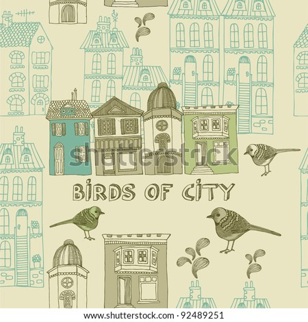 seamless pattern with bird and ...