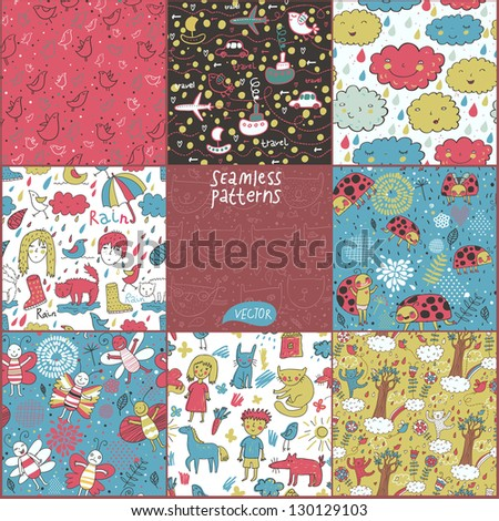 8 seamless patterns for