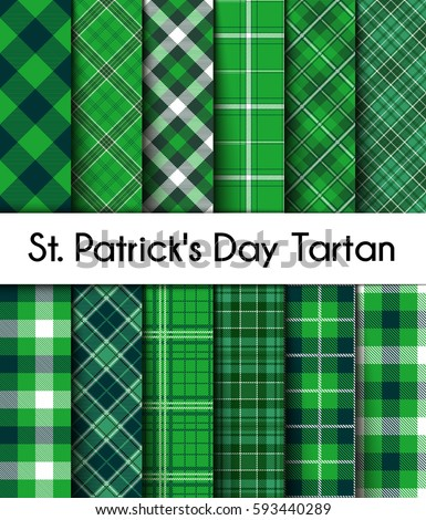 12 seamless patterns green st