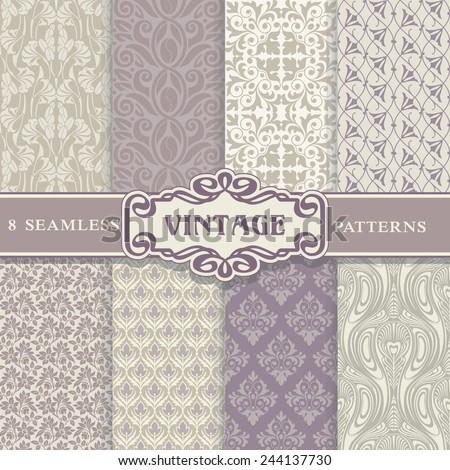 seamless patterns vintage set
