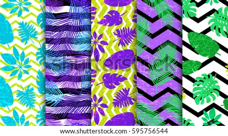 5 seamless patterns with