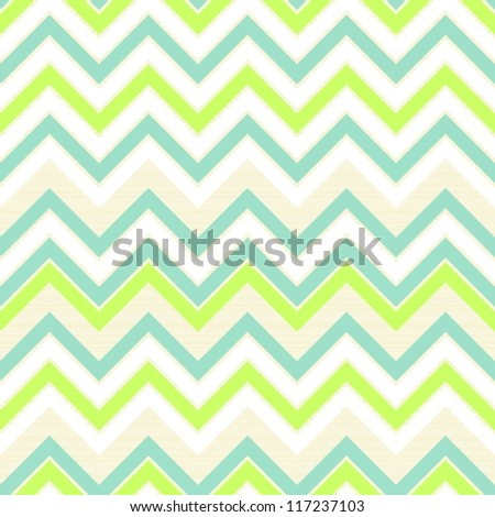 seamless retro geometric chevron pattern in green white beige and turquoise