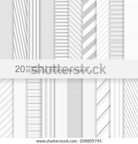 20 seamless striped vector