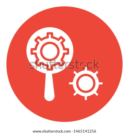 Search engine, search optimization vector icon which can easily modify or edit