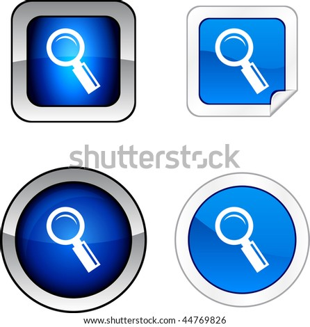 Searching  web buttons. Vector illustration.