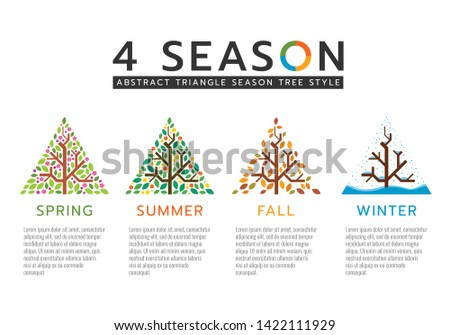 4 season sign with abstract