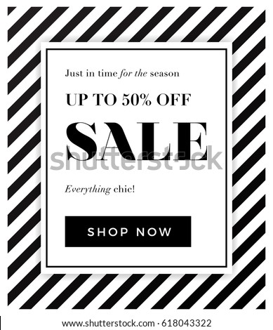 Seasonal sale background with elegant black and white colour. Vector illustration template, banners, Wallpaper, flyers, invitation, posters, brochure, voucher discount. Up to 50% off design.