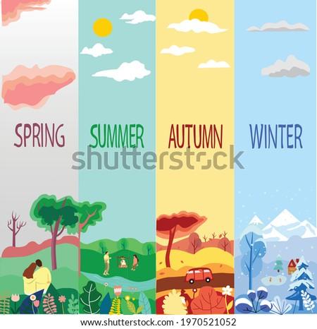 4 seasons  spring  summer