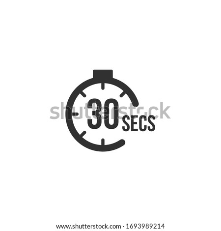 30 seconds Countdown Timer icon set. time interval icons. Stopwatch and time measurement. Stock Vector illustration isolated on white background. Foto stock ©