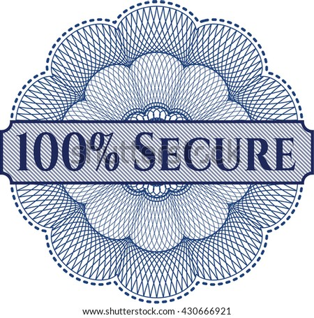100% Secure abstract rosette