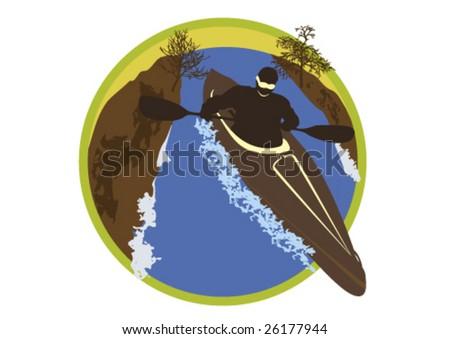 Series Extreme sport Kayak