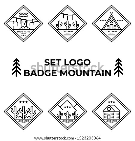 set collection logo badges