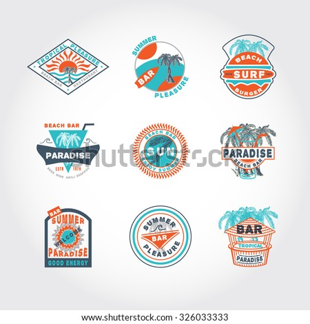 51 set concept  badge icon on