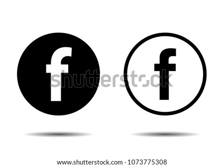 Set for letter F. Flat web icon or sign isolated on white background. - Shutterstock ID 1073775308