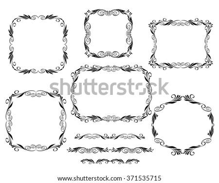 Set frame floral .Vector illustration.Well built for easy editing.