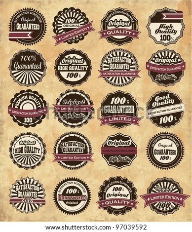 20 set High Quality Labels whit vintage design