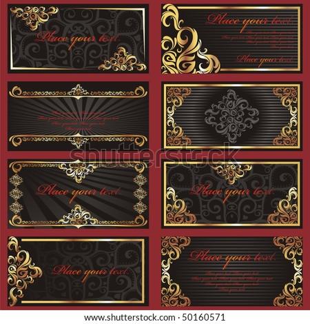 stock-vector--set-of-black-business-cards-vector-illustration