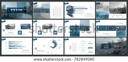 Set of blue, black elements of infographics, white background. Themes, presentations. Slide set. Use business presentations, corporate reports, marketing,advertising, anniversaries booklets,banners