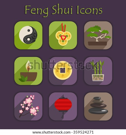set of color vector chinese