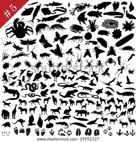 Bird Silhouette tattoo by Chris Hatch Tattoo Artist stock vector : # 5 set