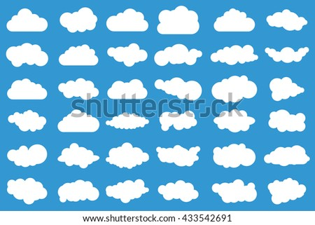 set of 36 different vector