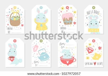 Easter gift tag vector collections download free vector art set of easter gift tags and labels with cute cartoon characters and type design easter negle Choice Image
