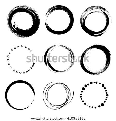 set of empty  circles  vector...