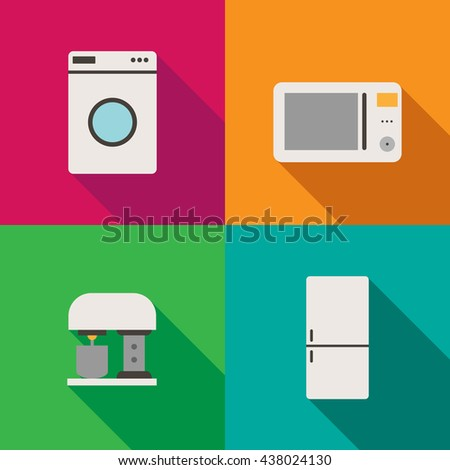 Set of gray flat vector icons on background