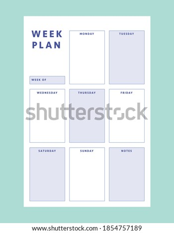 2 Set of minimalist planners. Smart Planner Business Planner. Daily and weekly planner template. Clear and simple printable to do list.  Stockfoto ©