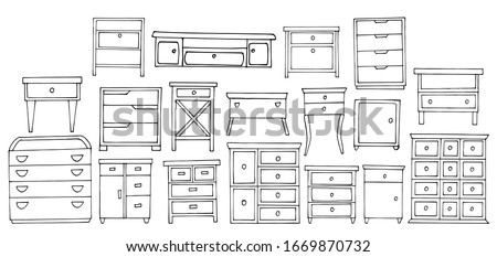 set of nightstands and