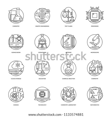 Set of Science and Technology Line Vector Icons